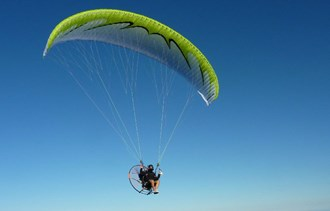 How did you get to work? Meet the man who uses a paramotor