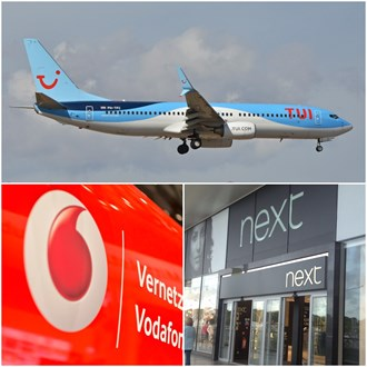 The Share Centre: Kingfisher, Next, Vodafone, Wolseley, Saga, TUI