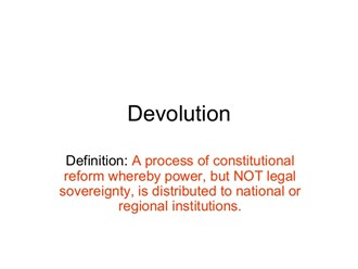 NEF: Power and Devolution